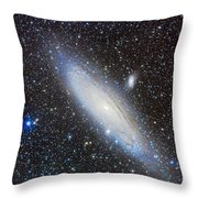 Andromeda Galaxy With Companions Throw Pillow