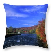 Androscoggin River Headwaters Throw Pillow