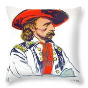 Andy Warhol, General Custer, Cowboys And Indians Series Throw Pillow