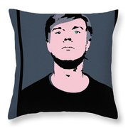 Andy Warhol Self Portrait 1964 On Grey - High Quality Throw Pillow