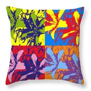 Andy's Lillies Throw Pillow