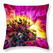 Anemone Abstracted In Fuchsia Throw Pillow
