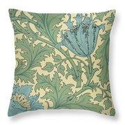 Anemone Design Throw Pillow