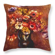 Anemones 1898 Throw Pillow