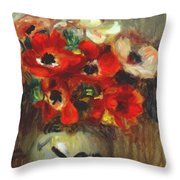 Anemones 1905 Throw Pillow
