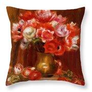 Anemones 1909 Throw Pillow