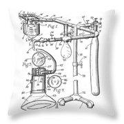 Anesthetic Machine Patent 1919  Throw Pillow