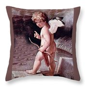 Angel - The Angel Of Love Throw Pillow