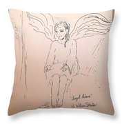 Angel Above Throw Pillow