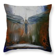 Angel Abstract  Throw Pillow