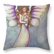 Angel And Baby Throw Pillow