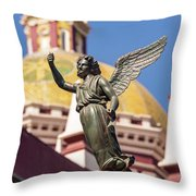 Angel And Cathedral Throw Pillow