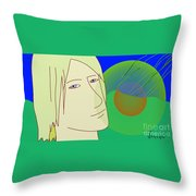 Angel And The Light Throw Pillow