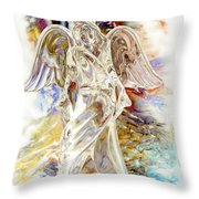 Angel At The Cross Throw Pillow