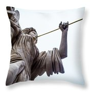 Angel Blowing A Gilt Trumpet Throw Pillow