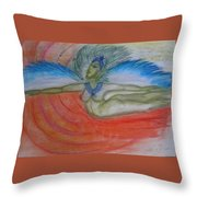 Angel Blue Throw Pillow