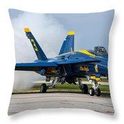 Angel Blue Throw Pillow