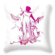 Woman Fashion Brand Throw Pillow