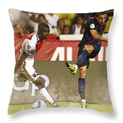 Angel Di Maria Shoot The Ball Throw Pillow