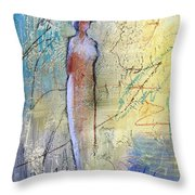 Angel Dust  Throw Pillow