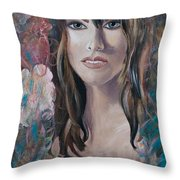 Angel Eyes Throw Pillow