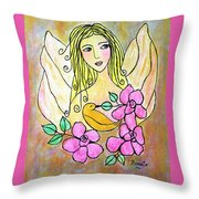 Angel-face Throw Pillow