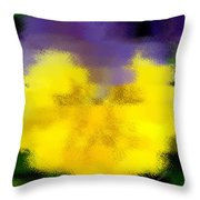 Angel Faced Petunia Throw Pillow