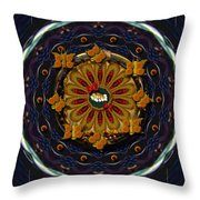 Angel Flower In The Sky Throw Pillow