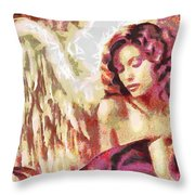 Angel Fragmented Throw Pillow