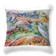Angel From Jacob's Ladder Throw Pillow