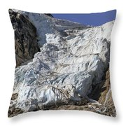 Angel Glacier Throw Pillow
