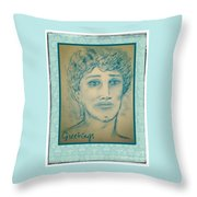 Angel Greetings Throw Pillow