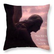 Angel Guardian Art - Inspirational Angel Art - Guardian Angel Silhouette Throw Pillow