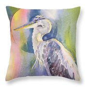 Angel Heron Throw Pillow