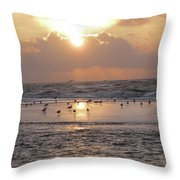 Angel In Approach For Landing 2 Throw Pillow