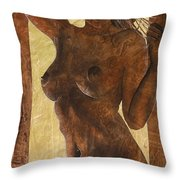 Angel In Gold Throw Pillow
