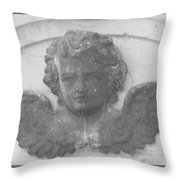 Angel In Grey Throw Pillow