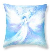 Angel In Hotty Totty In Thick Paint Throw Pillow