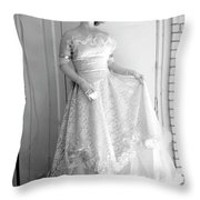Angel In My Backyard Throw Pillow