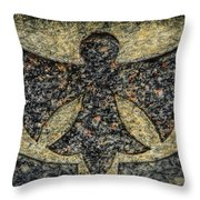 Angel In Stone Throw Pillow