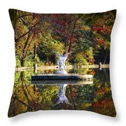 Angel In The Lake - St. Mary's Ambler Throw Pillow
