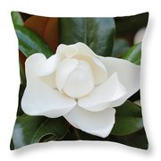 Angel In The Magnolia Throw Pillow