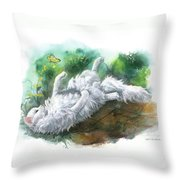 Angel In The Morning Throw Pillow
