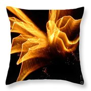 Angel In The Sky Fireworks Throw Pillow