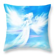 Angel In Thick Paint Throw Pillow