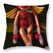Angel Made Of Sockies Throw Pillow