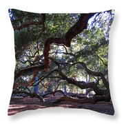 Angel Oak Side View Throw Pillow