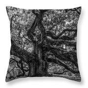 Angel Oak Tree Americana Throw Pillow