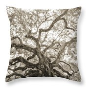Angel Oak Tree Charleston Sc Throw Pillow