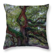 Angel Oak Tree Deeply Rooted History Throw Pillow